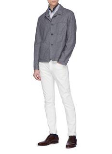 BARENA 'Portera Strica' Mandarin collar stripe shirt