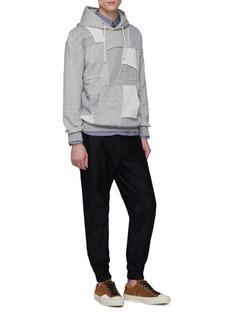 Comme Des Garçons Homme Patchwork front hoodie