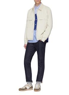 Comme Des Garçons Homme Mix pattern patchwork shirt