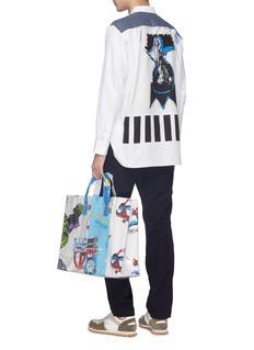 Comme Des Garçons Shirt x Jean-Michel Basquiat flannel yoke graphic print shirt
