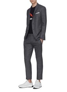 Neil Barrett Peaked lapel skinny virgin wool-cotton suit