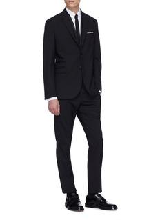 Neil Barrett Layered lapel slim fit tuxedo blazer