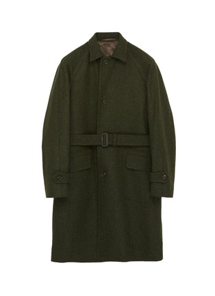 Main View - Click To Enlarge - RING JACKET - Belted melton raglan trench coat