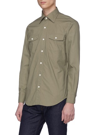 Front View - Click To Enlarge - RING JACKET - Chest pocket canvas shirt