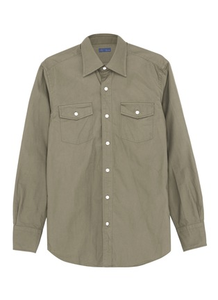 Main View - Click To Enlarge - RING JACKET - Chest pocket canvas shirt