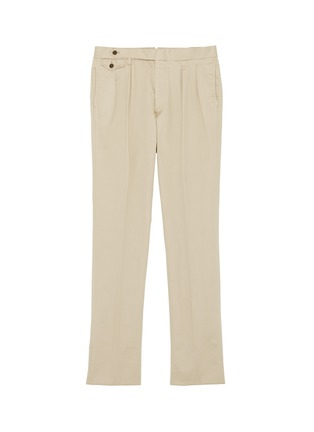 Main View - Click To Enlarge - Ring Jacket - Buckled tab pleated twill chinos