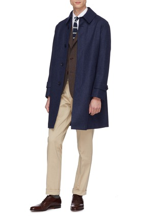 Figure View - Click To Enlarge - Ring Jacket - Buckled tab pleated twill chinos