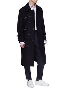 Wooyoungmi Toggle-and-loop front melton coat