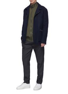 Wooyoungmi Zip cuff melton shirt jacket