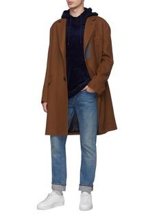 Wooyoungmi Contrast hood modal-cotton velvet hoodie