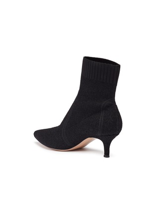 Detail View - Click To Enlarge - GIANVITO ROSSI - Bouclé knit sock boots