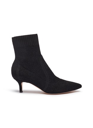 Main View - Click To Enlarge - GIANVITO ROSSI - Bouclé knit sock boots