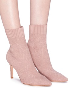 Gianvito Rossi 'Fiona' bouclé knit sock ankle boots