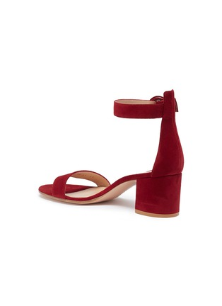 Detail View - Click To Enlarge - GIANVITO ROSSI - 'Versilia' ankle strap suede sandals