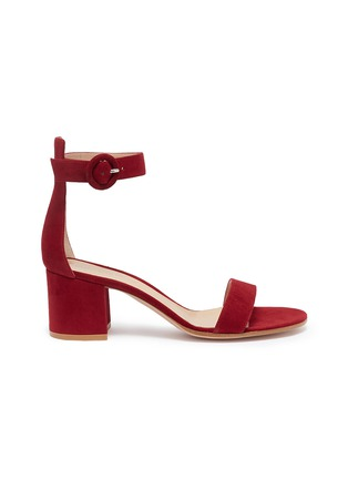 Main View - Click To Enlarge - GIANVITO ROSSI - 'Versilia' ankle strap suede sandals