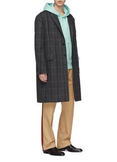 CALVIN KLEIN 205W39NYC Stripe virgin wool-silk herringbone oversized coat