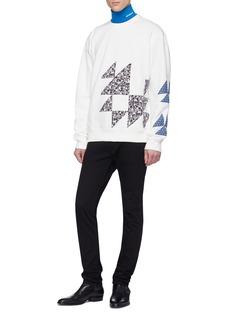 CALVIN KLEIN 205W39NYC Floral triangular appliqué sweatshirt