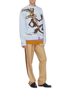 CALVIN KLEIN 205W39NYC x Looney Tunes™ 'Ralph Wolf' jacquard virgin wool sweater