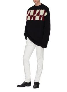 CALVIN KLEIN 205W39NYC Geometric intarsia virgin wool-mohair sweater
