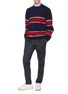 CALVIN KLEIN 205W39NYC Geometric intarsia wool-mohair sweater