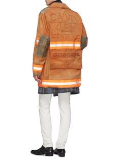 CALVIN KLEIN 205W39NYC 'Fireman' detachable patch logo appliqué canvas coat