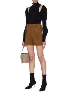 Chloé Flap pocket virgin wool twill shorts