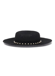 Eugenia Kim 'Colette' faux pearl straw boater hat