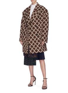 CALVIN KLEIN 205W39NYC Diamond print double breasted virgin wool-llama coat