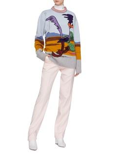 CALVIN KLEIN 205W39NYC x Looney Tunes™ 'Road Runner' intarsia knit sweater