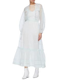 CALVIN KLEIN 205W39NYC Balloon sleeve tiered silk organza dress