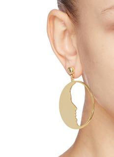 Oscar de la Renta 'Small Moon' hoop earrings