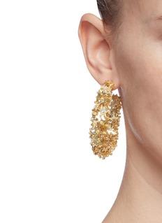 Oscar de la Renta Beaded star pillette hoop earrings