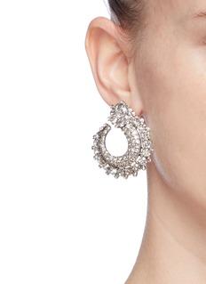 Oscar de la Renta Glass crystal hoop earrings