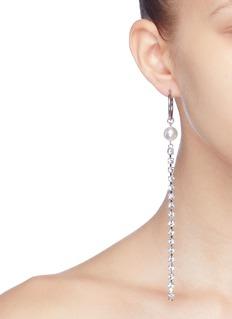 Joomi Lim 'Saturn Stunner' detachable Swarovski crystal pearl fringe drop link earrings