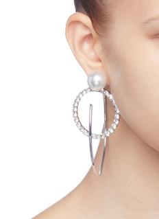 Joomi Lim 'Saturn Stunner' detachable Swarovski crystal ring large hoop earrings