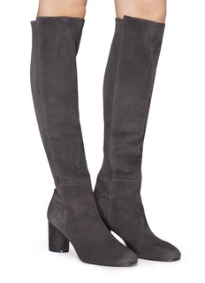 Stuart Weitzman 'Eloise' cylindrical heel suede knee high boots