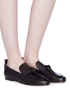 Stuart Weitzman 'Prescott' knot tassel leather loafers