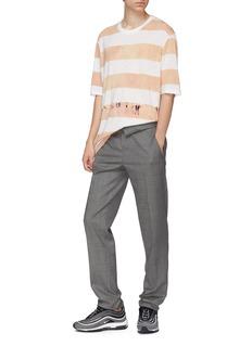 Faith Connexion Stripe bleach effect T-shirt