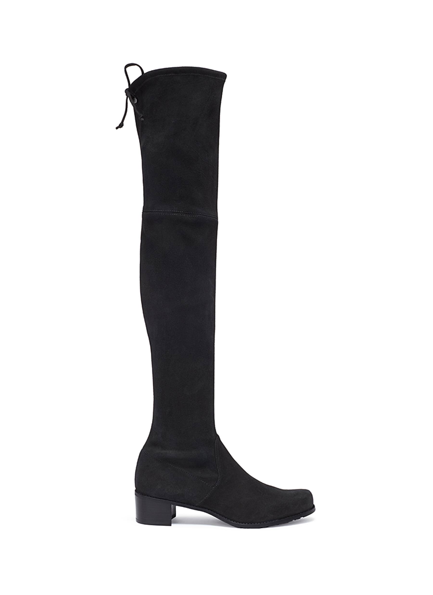 Midland suede thigh high boots by Stuart Weitzman