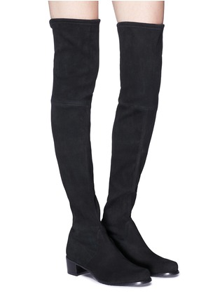 Figure View - Click To Enlarge - STUART WEITZMAN - 'Midland' suede thigh high boots