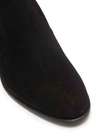 Detail View - Click To Enlarge - STUART WEITZMAN - 'Tieland' stretch suede thigh high boots