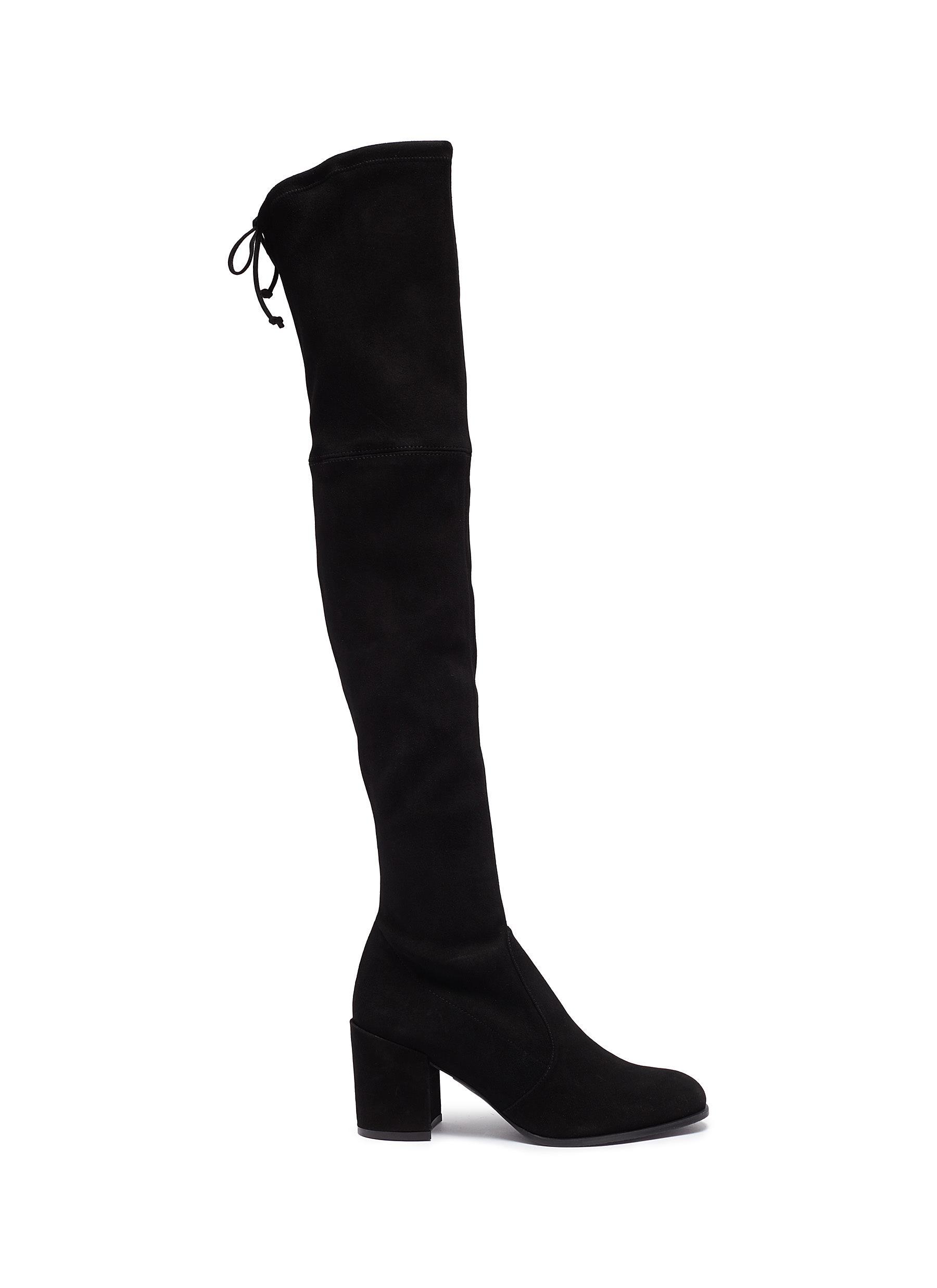Stuart Weitzman Boots Tieland stretch suede thigh high boots