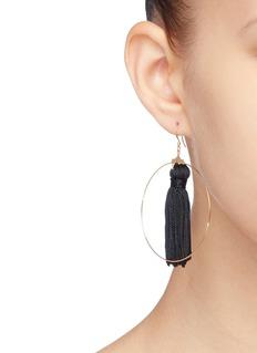 Kenneth Jay Lane Tassel hoop earrings