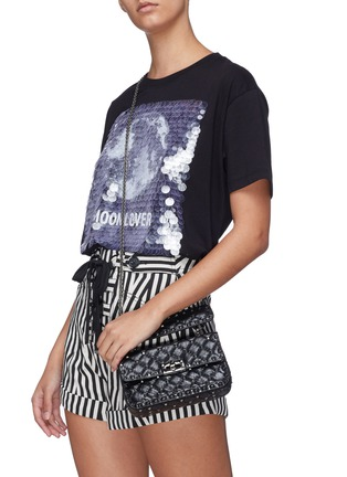 Figure View - Click To Enlarge - VALENTINO - 'Rockstud Spike' small quilted leather shoulder bag