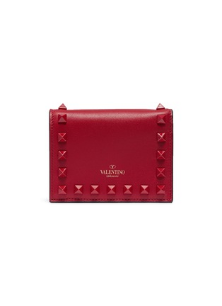 Main View - Click To Enlarge - Valentino - Rockstud leather bifold wallet