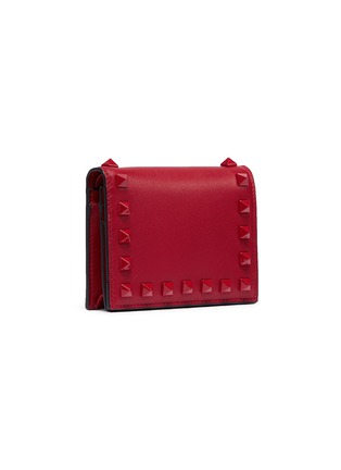 Figure View - Click To Enlarge - VALENTINO - Rockstud leather bifold wallet
