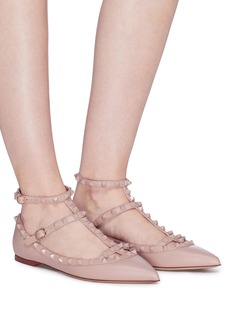 Valentino 'Rockstud' caged leather flats