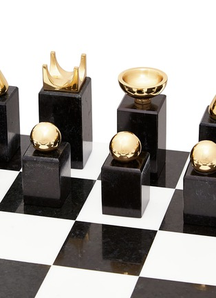 Detail View - Click To Enlarge - L'OBJET - Chess set – Black/White