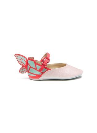 9fab2b8d25f Sophia Webster  Chiara Baby  butterfly appliqué glitter infant Mary Jane  flats