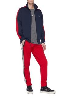 Daniel Patrick Snap button logo stripe outseam track pants